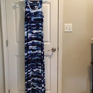 Item #119. Knit dress. Tie dyed like print.